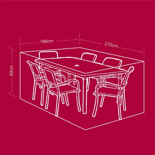 6 Seater Rectangular Furniture Cover 380GSM