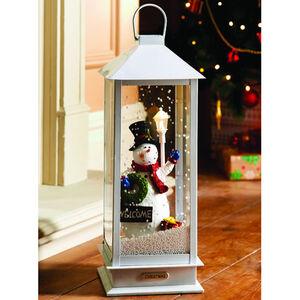 Snowing Snowman Musical Lantern 48cm