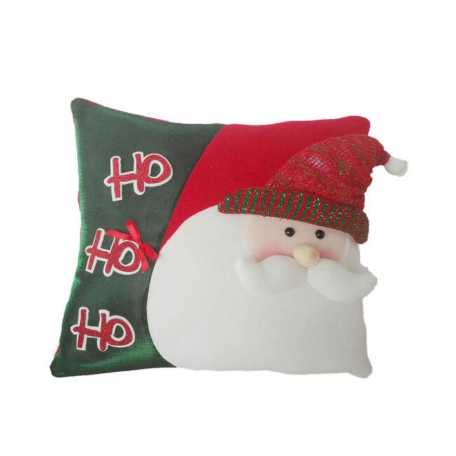 Red and Green Santa Cushion