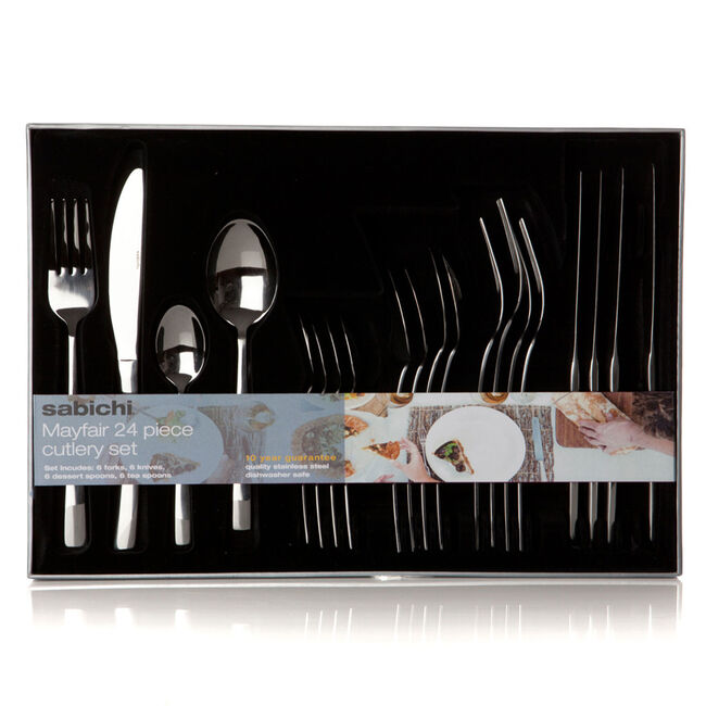 Sabichi Mayfair 24 Piece Cutlery Set