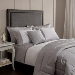 Glitter Rose Silver Pillowshams 50cm x 75cm