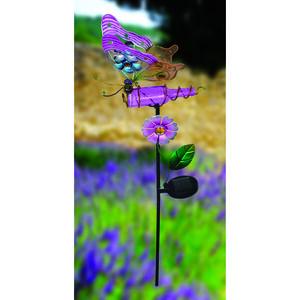 Decorative Glass Solar Butterfly Garden Stake