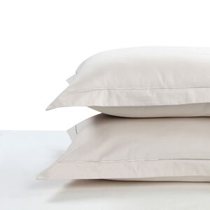 400TC Cotton Single Stitch Oxford Pillowcase Pair - Putty