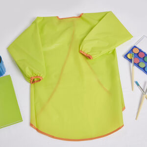 Long Sleeve Kids Apron - Green