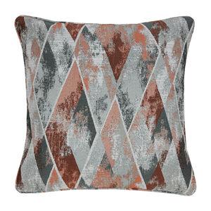 Forest Geo Cushion 45 x 45cm - Rust
