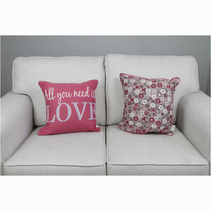 All You Need Is Love 2Pk 45x45 Cushion Cover