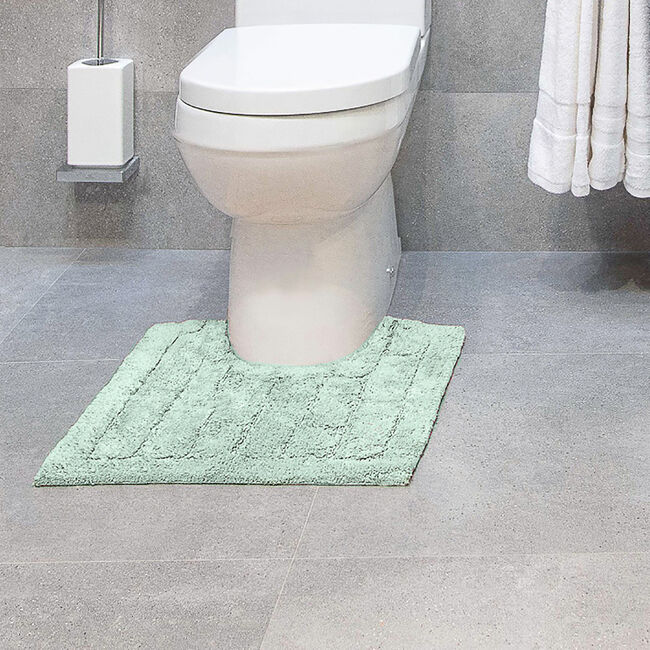 Cotton Brick Duck Egg Pedestal Mat 50x50