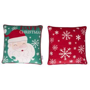 Jolly Santa Cushion Cover 45 x 45cm - 2 Pack