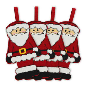 4 Pack Novelty Santa Cutlery Holders