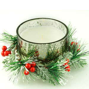 Gold Wreath Centrepiece Candle Gift Set