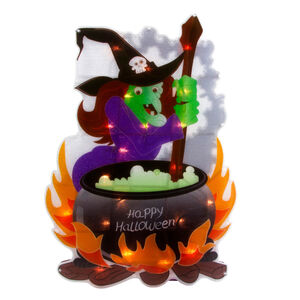 Light-Up Witch Metallic Silhouette 50cm