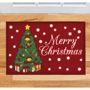 Merry Christmas Tree Doormat 40x60cm