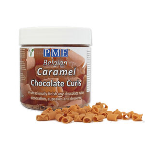 PME Caramel Chocolate Curls 85g