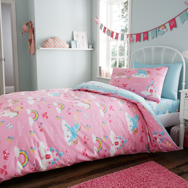 SINGLE DUVET COVER Princess and Sparkle