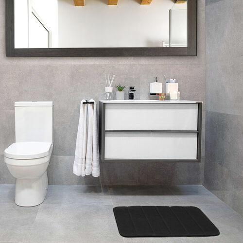 Memory Foam Bath Mat Black 40cm x 60cm