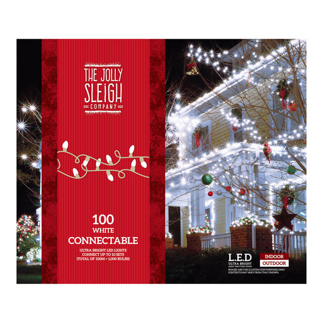 100 Connectable Lights White