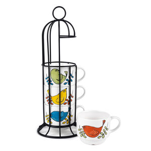 Cambridge 4 Stacking Birdcage Espresso Mugs