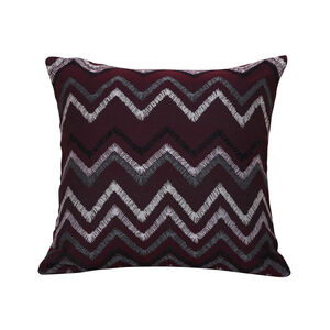 Tribal Chevron Cushion 45 x 45cm - Plum