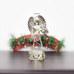 Silver Angel T-Light Holder