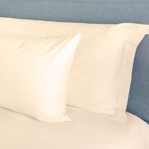 300TC Cotton Oxford Pillowcase Pair - Cream