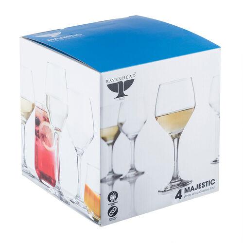 Majestic White Wine Glasses - 4 Pack