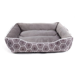 Printed Plush Large Pet Bed