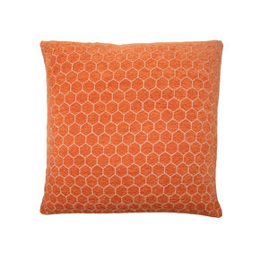 Honeycomb Cushion 45x45cm - Orange