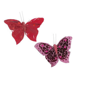 Butterflies Dark Curtain Clips