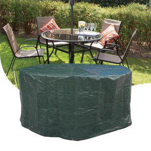 4 Seater Round Furniture Set Cover 100GSM