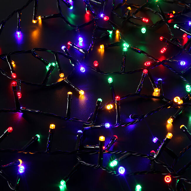 500 Multicolour LED Star Bright Compact Lights