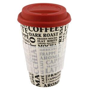 Coffee Aroma Bamboo Sippy Mug