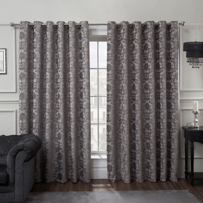 SHELBOURNE SILVER 66x54 Curtains