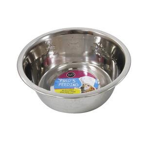 Fred's Feeding Embossed Steel Dog Bowl