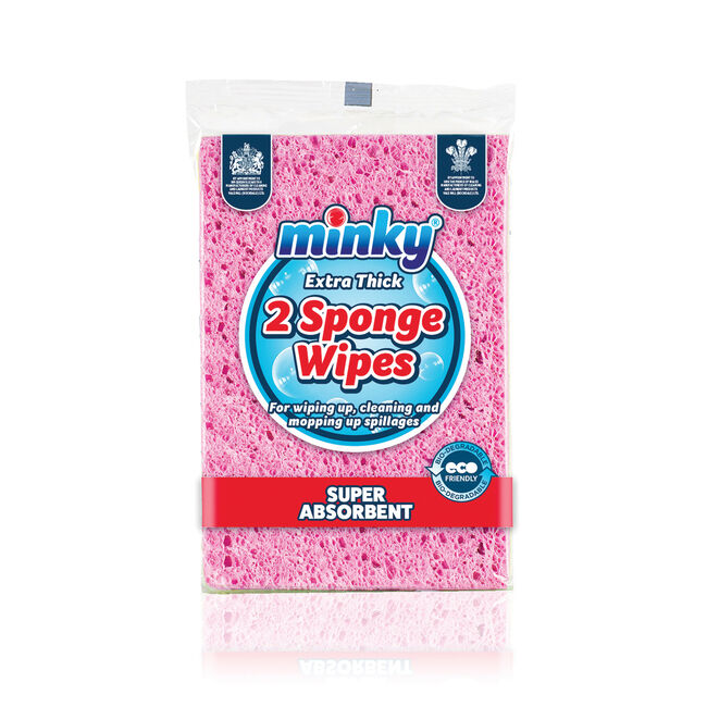 Minky Extra Thick Sponge Wipes 2 Pack