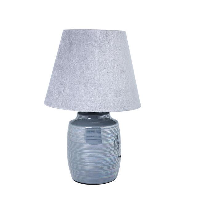 Glazed Table Lamp Grey