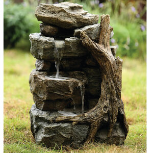 Rocks Waterfall Water Fountain