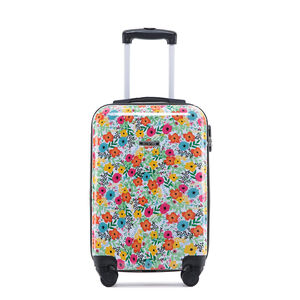 Cabin Sized Floral Printed Hardshell Luggage