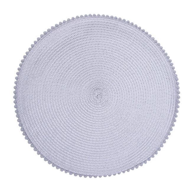 Pom Pom Placemat - Dove Grey