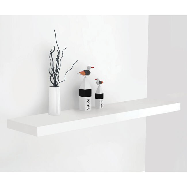 Bergen 80cm White Floating Shelf