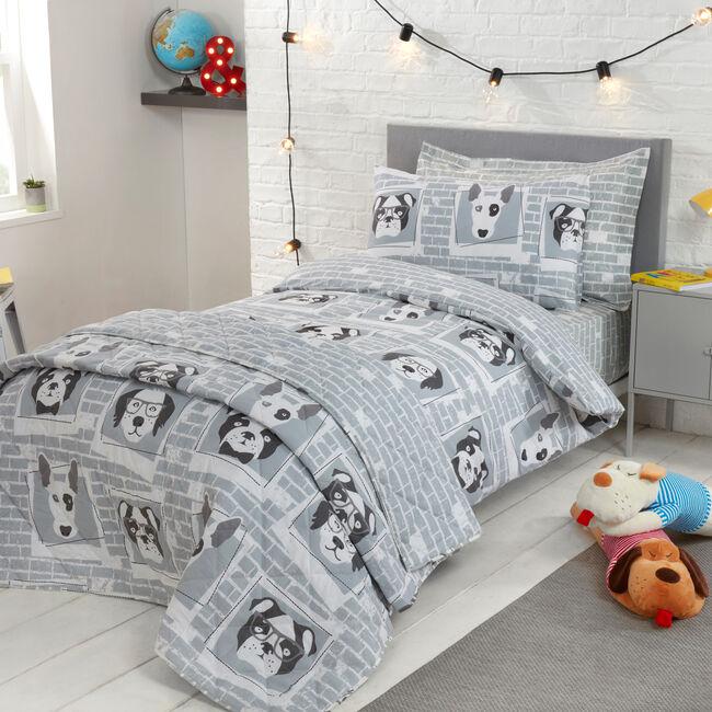 SINGLE BED DUVET COVER Dogs Daze