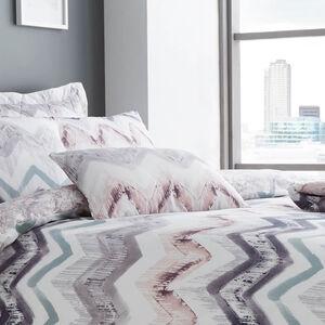 Hannah Grey/Blush Cushion 30x50cm