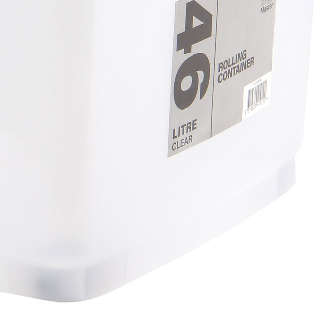 Rolling Storage Container 46L - Clear