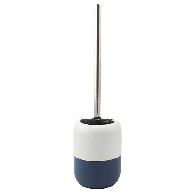 Dipped Glaze Toilet Brush with Holder