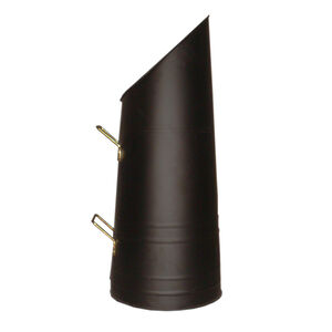 Silverflame Coal Hod Black with Brass Handles
