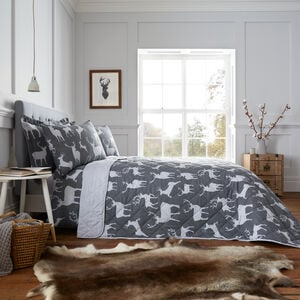 Brushed Cotton Textured Stag Bedspread 200x220cm