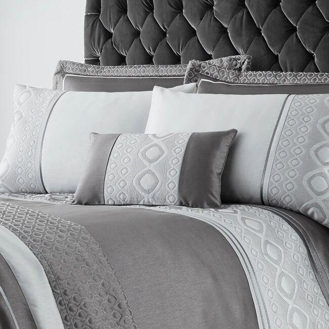 Luxury Geo Silver Cushion 30x50cm