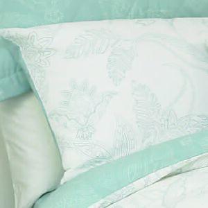 Paisley Elegance Duck Egg Oxford Pillowcase Pair