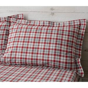 Patchwork Christmas Oxford Pillowcase Pair - Grey