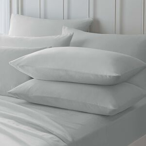 Flannelette Pillowcase Pair - Grey