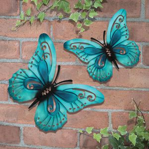 Pastel Butterfly Garden Wall Art 2 Pack